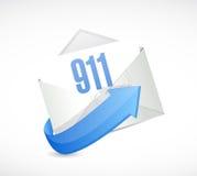 911 mail sign concept illustration design. Over white vector illustration