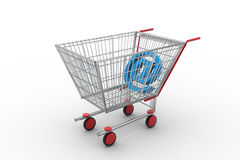 Mail sign in shopping cart Stock Photo