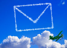 Mail in the sky Stock Photo