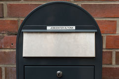 Mail slot at the employment center Hamburg Royalty Free Stock Image