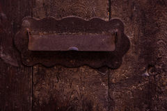 Mail slot - Rustic and elegant mail sign Stock Photo