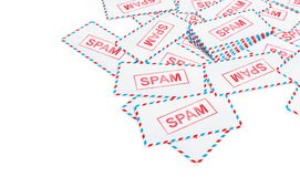 Mail spam Stock Photo