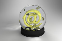 Mail in sphere Royalty Free Stock Photos
