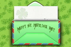 Mail for St. Patrick day Royalty Free Stock Photo