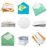 Mail. Stack Envelope Letter Junk  U.S.  Large Group of Objects Royalty Free Stock Photography