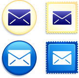 Mail and Stamp and Button Stock Photography