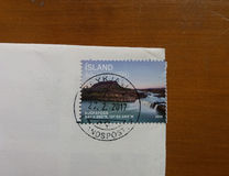 Mail stamp from Island Royalty Free Stock Photo