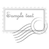 Mail stamp isolated on white Stock Photography