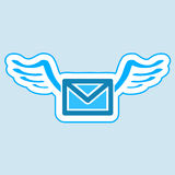 Mail symbol. Mail symbol icon   illustration Stock Photography