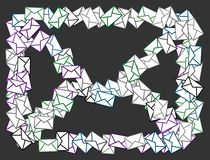 Mail symbol illustration Royalty Free Stock Images