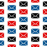Mail symbol seamless pattern Royalty Free Stock Images