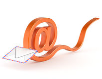 Mail symbol  which envelope Stock Image