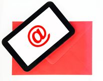 Mail on tablet Stock Photography