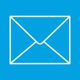 Mail thin line icon Stock Photos