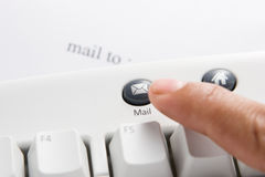 Mail to:. Action to push email button on the keyboard Stock Images