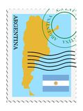 Mail to/from Argentina. Vector stamp in colors of Argentina Stock Image