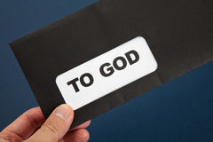 Mail to God stock photo