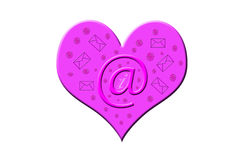 Mail to a heart. Heart with mail for web design Royalty Free Stock Image