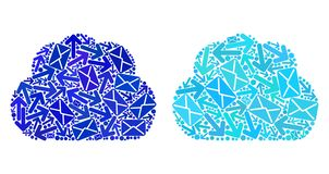 Mail Traffic Mosaic Cloud Icons vector illustration