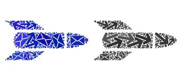 Mail Traffic Mosaic Rocket Icons vector illustration