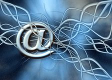 Mail transfer. Free interpretation, the paths a mail has to go before reaching destination Royalty Free Stock Photo