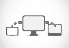 Mail transfer technologies Royalty Free Stock Image