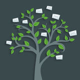 Mail tree Royalty Free Stock Photography