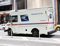 Mail truck. Post office vehicle transporting daily Royalty Free Stock Images