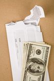 Mail and us dollars Stock Image