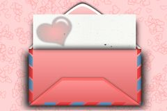 Mail for Valentine day Royalty Free Stock Photography