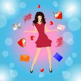 Mail valentines Stock Photo