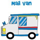 mail van collection的运输 图库摄影