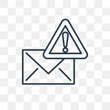 Mail vector icon isolated on transparent background, linear Mail vector illustration