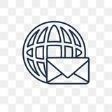 Mail vector icon isolated on transparent background, linear Mail stock illustration