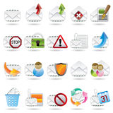 Mail Vector and Letter Icons Stock Photo