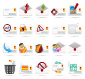 Mail Vector and Letter icons. Vector Icon Set 2 Royalty Free Stock Photos