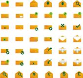 Mail Vector and Letter Icons Stock Images