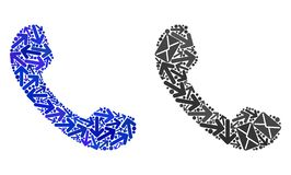 Mail Ways Mosaic Phone Icons stock illustration