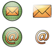 Mail web icons. Vector illustration of four mail web icons Stock Photo