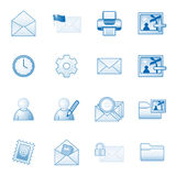 Mail web icons set 2, blue series Stock Photo