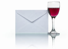 Mail and wine Royalty Free Stock Images