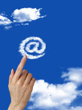 Mail. Writing is very easy Royalty Free Stock Image