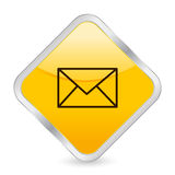 Mail yellow square icon Royalty Free Stock Images