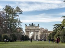 Mailand: ACRO-della Schritt Lizenzfreie Stockbilder