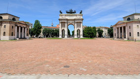 Mailand - Arco della Schritt Stockfotografie
