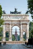 Mailand - Arco della Schritt Stockfoto