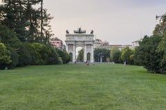 Mailand - Arco della Schritt Stockbild