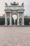 Mailand - Arco della Schritt Lizenzfreies Stockfoto