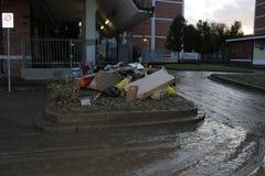 Mailand der fiume Seveso-Überlauf Lizenzfreie Stockfotografie