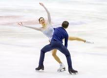 MAILAND - 16. DEZEMBER: Charlene Guignard und Marco Fabbri während der italienischen Meisterschaft 2018 Stockfotografie